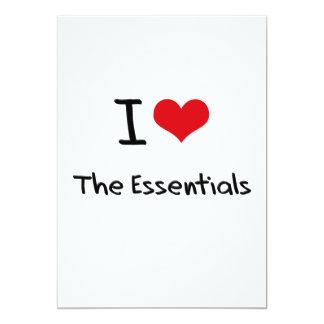 "I love The Essentials 5"" X 7"" Invitation Card"