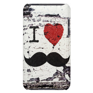 I Love the Mustache Rustic Custom Barely There iPod Covers