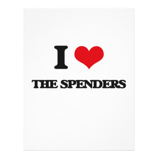 """I love The Spenders 8.5"""" X 11"""" Flyer"""
