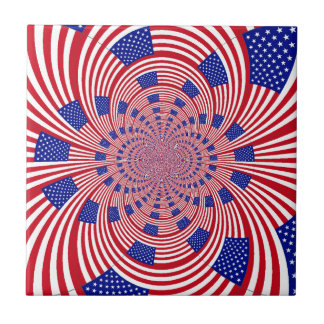 I Love The United States Small Square Tile