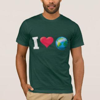 I Love The World/Earth White T-Shirt