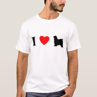 I Love Tibetan Terriers T-Shirt