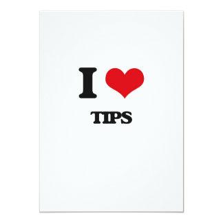 I love Tips 13 Cm X 18 Cm Invitation Card