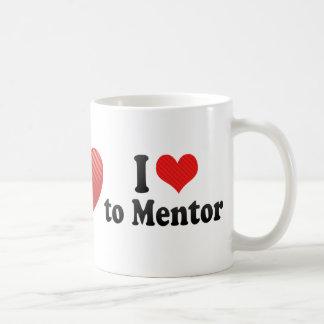 I Love to Mentor Basic White Mug