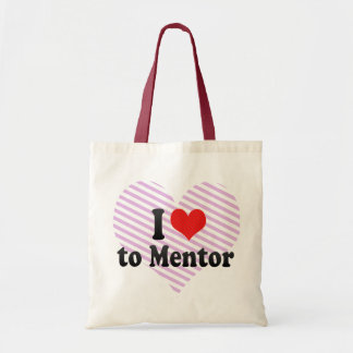 I Love to Mentor Budget Tote Bag