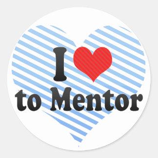 I Love to Mentor Round Sticker