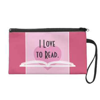 I LOVE TO READ TOTE with Jane Austen Quote Wristlet