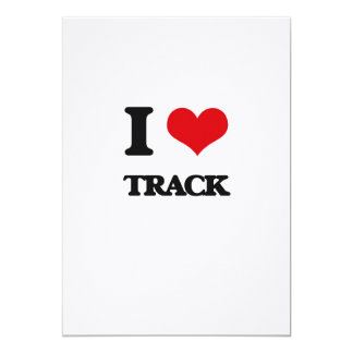 I love Track 13 Cm X 18 Cm Invitation Card