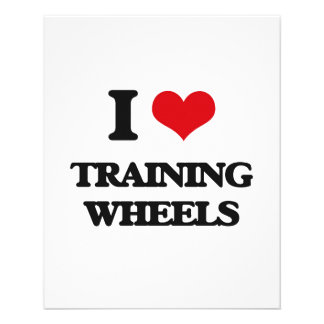 "I love Training Wheels 4.5"" X 5.6"" Flyer"