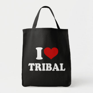 I Love Tribal Tote Bag