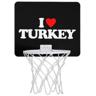 I LOVE TURKEY MINI BASKETBALL HOOP