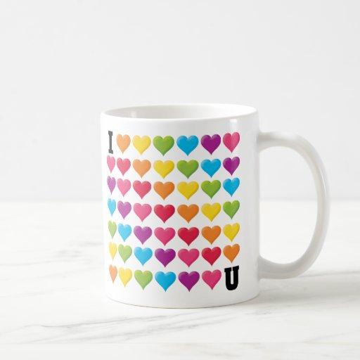 I love U (infinity) Rainbow Mugs