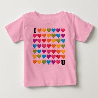 I love U (infinity) Rainbow Tee Shirts