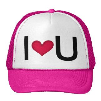 I LOVE U -- VALENTINES GIFT IDEA CAP