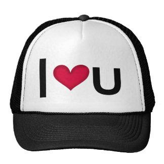I LOVE U -- VALENTINES GIFT IDEA MESH HATS