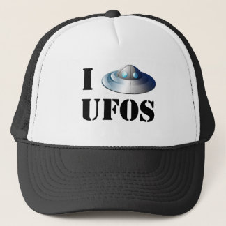 I Love UFOs Hat
