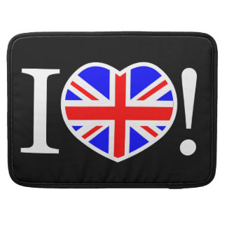 I Love United Kingdom MacBook Pro Sleeves