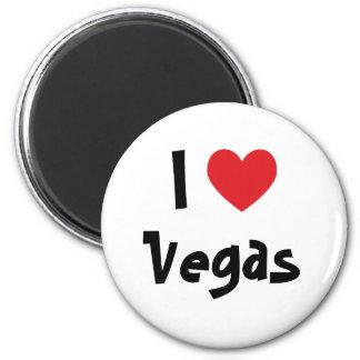 I Love Vegas 6 Cm Round Magnet