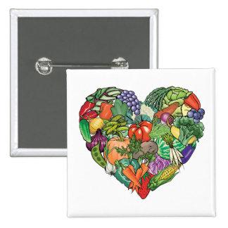 I Love Veggies 15 Cm Square Badge
