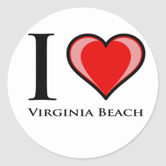 I Love Virginia Beach Classic Round Sticker