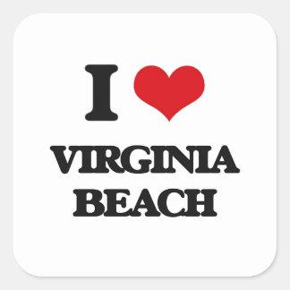 I love Virginia Beach Square Sticker
