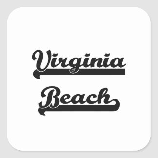 I love Virginia Beach Virginia Classic Design Square Sticker