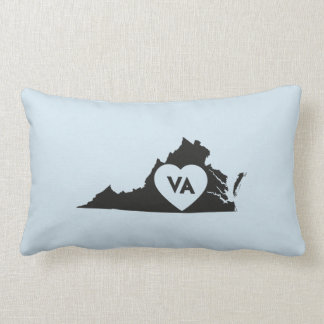 I Love Virginia State Lumbar Pillow