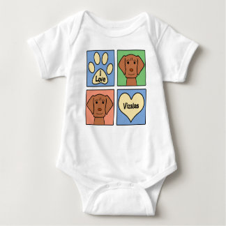 I Love Vizslas Baby Bodysuit