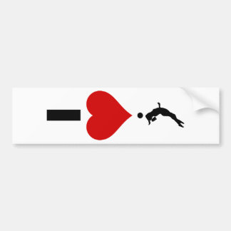 I Love Volleyball Vertical (Female) Bumper Sticker