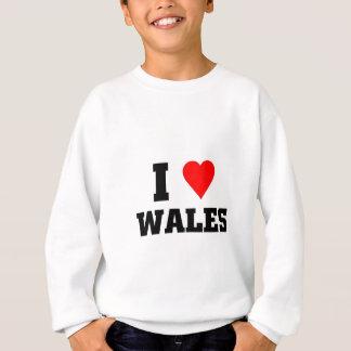 I love wales sweatshirt