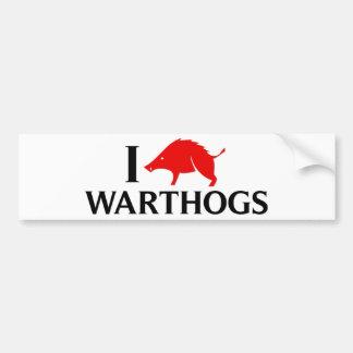 I Love Warthogs Bumper Sticker