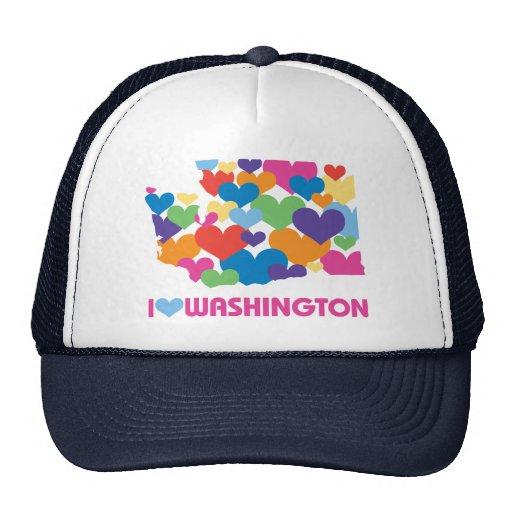 I Love Washington Heart Hat