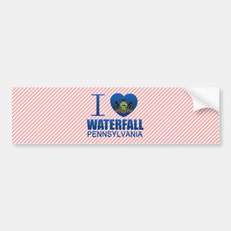 I Love Waterfall, PA Bumper Stickers