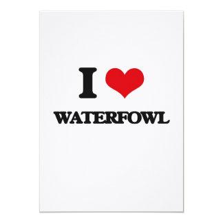 """I love Waterfowl 5"""" X 7"""" Invitation Card"""
