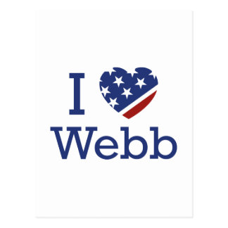 I Love Webb Postcard