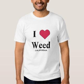 I Love Weed California Shirts