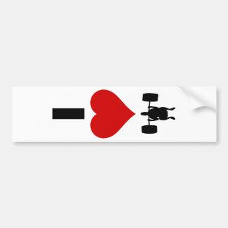 I Love Weightlifting (Vertical) Bumper Sticker