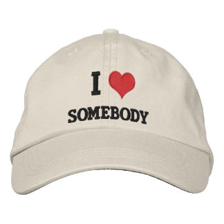 """I Love... well you fill in the blank Embroidered Hats"