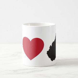 I Love West Virginia Basic White Mug