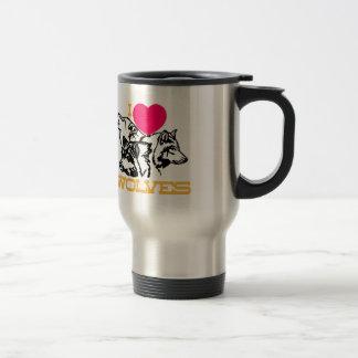 I Love Wolves Stainless Steel Travel Mug