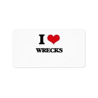 I love Wrecks Address Label