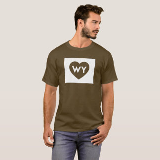 I Love Wyoming State Men's Basic Dark T-Shirt