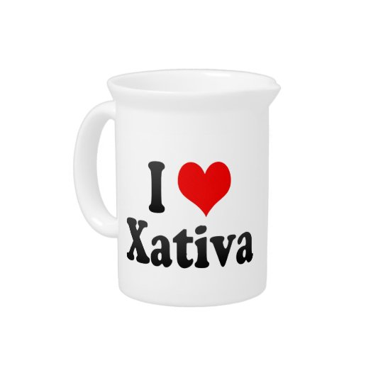 I Love Xativa, Spain. Me Encanta Xativa, Spain Pitcher