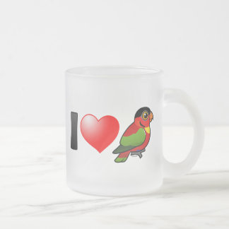 I Love Yellow-bibbed Lories Frosted Glass Coffee Mug