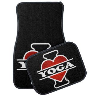 I Love Yoga Floor Mat