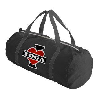 I Love Yoga Gym Duffel Bag