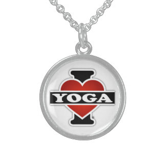 I Love Yoga Round Pendant Necklace