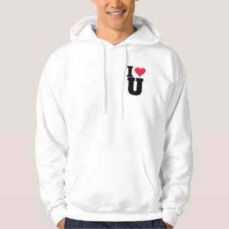 I Love You2 Black S Hooded Sweatshirt