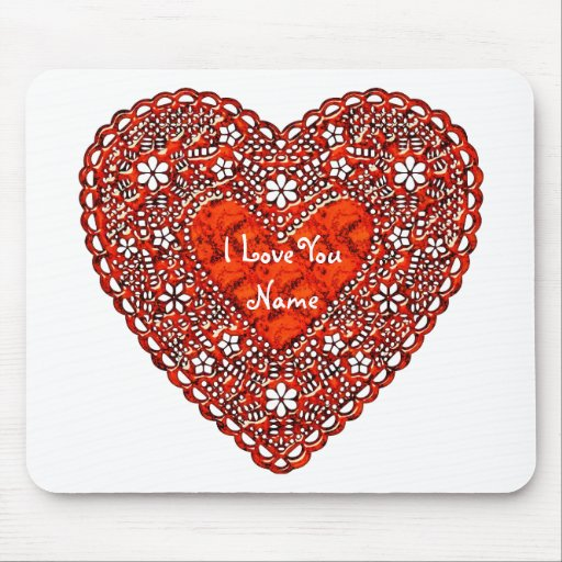 I Love You 1A Mousepad