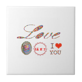 I Love YOU - A gift of expression for everyone Small Square Tile